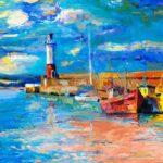 impressionismo quadro faro e barca